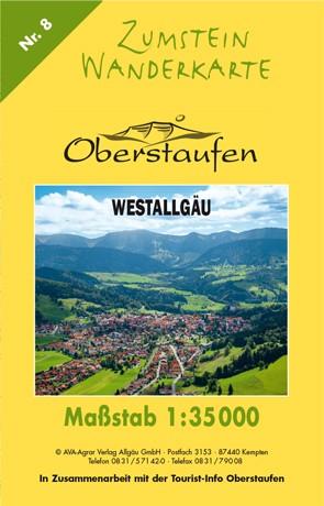 Zumstein Wanderkarte Oberstaufen Westallgäu