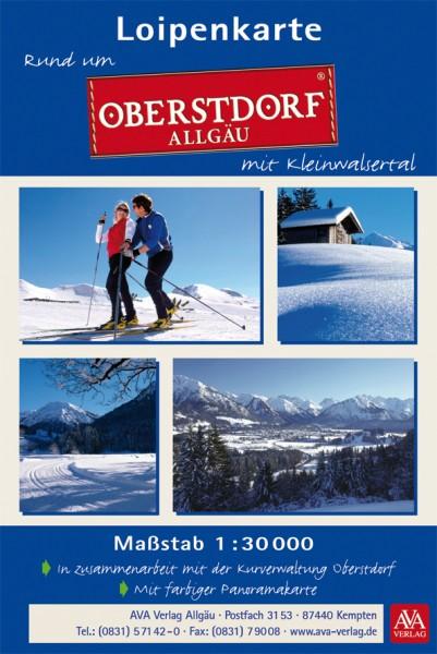 Rund um Oberstdorf - Loipenkarte mit Kleinwalsertal