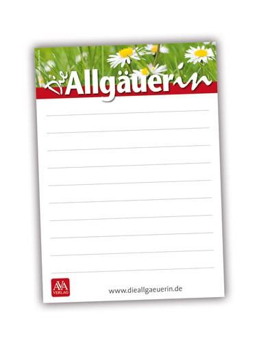 "Notizblock ""Die Allgäuerin"""