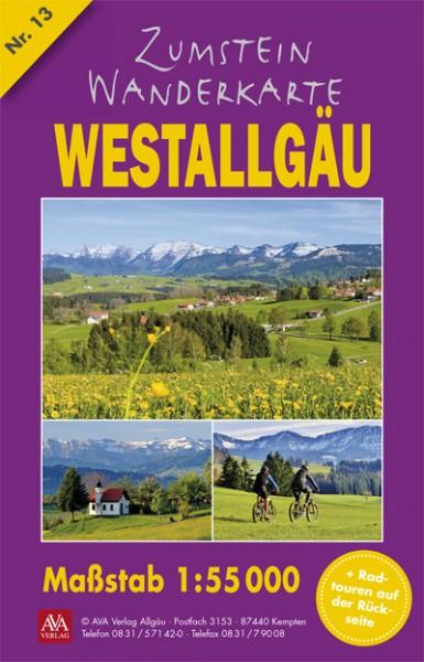 Zumstein Wanderkarte Westallgäu/Oberschwaben