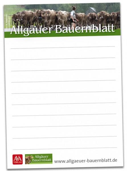 "Notizblock ""Allgäuer Bauernblatt"""