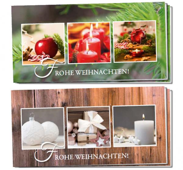 Weihnachtsklappkarten - Set