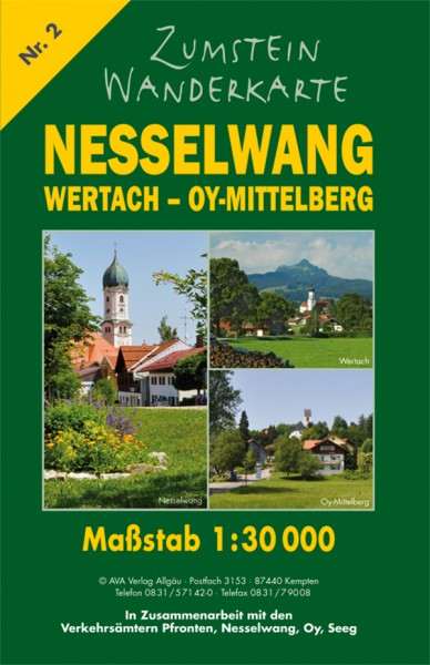 Zumstein Wanderkarte Nesselwang Wertach Oy-Mittelberg