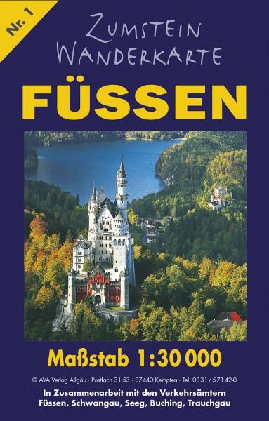 Zumstein Wanderkarte Füssen/Schwangau