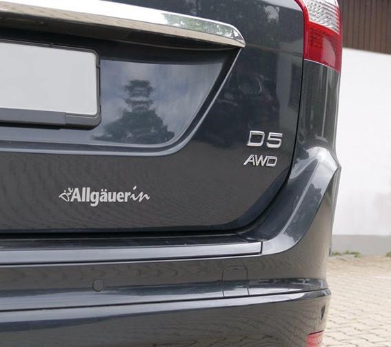 """Autoaufkleber """"Die Allgäuerin"""" silber"""